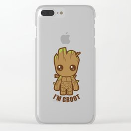 CuteGroot Clear iPhone Case