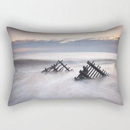 Sunrise at Caistor Windfarm Rectangular Pillow