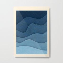 In Waves II Metal Print