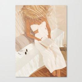 Summer Reading II Canvas Print
