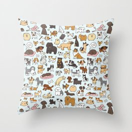 Doggy Doodle Throw Pillow