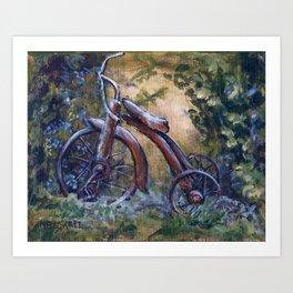 Rustic Tricycle Art Print