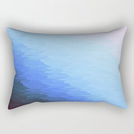 Blue Texture Ombre Rectangular Pillow