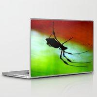 spider Laptop & iPad Skins featuring spider by lennyfdzz