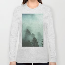 Magnificent Morning - Foggy Redwood Forest Nature Photography Long Sleeve T-shirt