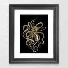 Octopsychedelia Sepia Framed Art Print