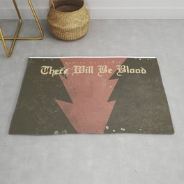 There will be blood, alternative movie poster, Daniel Day Lewis, Paul Thomas Anderson, Paul Dano Rug