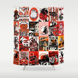 Halloween : Trick Or Treat, Smell My Feet, Gimmie Something Good To Eat. Shower Curtain