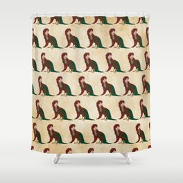 Harpy Pattern Shower Curtain