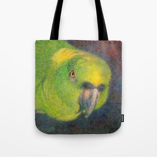 Green parrot Tote Bag