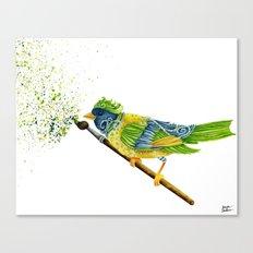 Feathers & Flecks Canvas Print