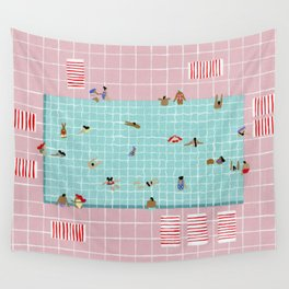 Pink Tiles Wall Tapestry