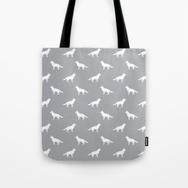 German Shepherd silhouette grey and white minimal dog breed pattern dogs dog art Tote Bag
