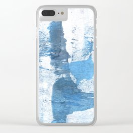 Lavender blue colored wash drawing Clear iPhone Case