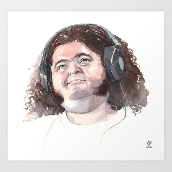 Jorge Garcia (Hurley) Art Print