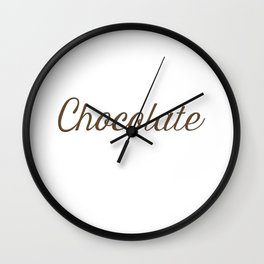 Chocolate Script Wall Clock