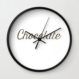 Chocolate Script Wall Clock