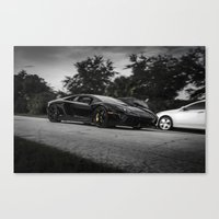 lamborghini Canvas Prints featuring Lamborghini aventador by Aaron Joslin Photography