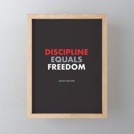 """Discipline Equals Freedom"" Jocko Willink Framed Mini Art Print"
