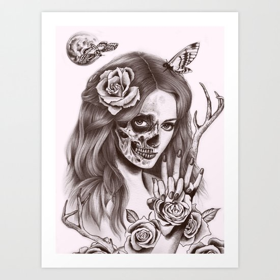 Goodnight Girl Art Print