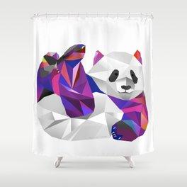 Pauline Panda  Shower Curtain
