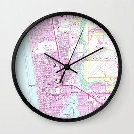 Vintage Map of Naples Florida (1958) Wall Clock