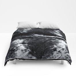 Black and White Feather | Feathers | Spiritual | Nadia Bonello | Canada Comforters