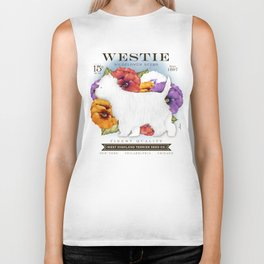 Westie West Highland Terrier seed company dog art illustration by Stephen Fowler Biker Tank
