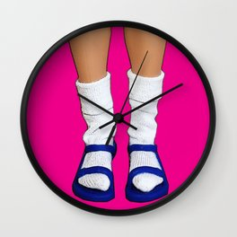 Socks and Sandals Wall Clock