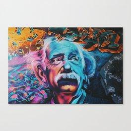 Einstein graffiti Canvas Print