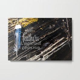 Where Feathers Fall Metal Print