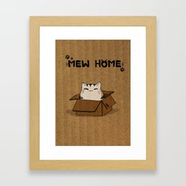 Mew Home Framed Art Print