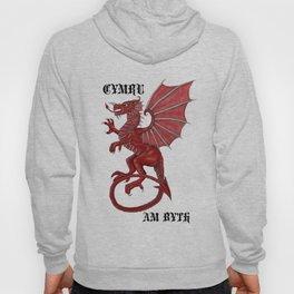 cymru am byth text Hoody