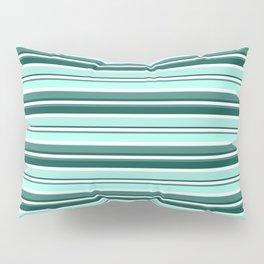 Mint Sampler Stipe 2 Pillow Sham