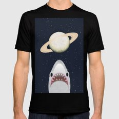 The Universe Is A Shark's Playground Black Mens Fitted Tee MEDIUM