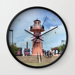 Chalong Pier Lighthouse - Thailand Wall Clock