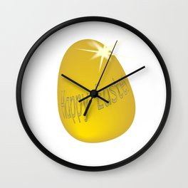 Gold Easter Egg Wall Clock