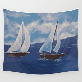 Summer Sailing Wall Tapestry
