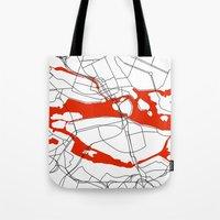 sweden Tote Bags featuring Stockholm Sweden. by Studio Tesouro