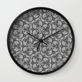 Intricate black and white designs Wall Clock