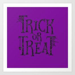Purple Trick Or Treat Art Print
