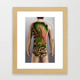 dragon bodysuit tattoo Framed Art Print