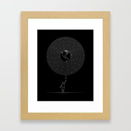 I Dream To Explore The World (Black) Framed Art Print