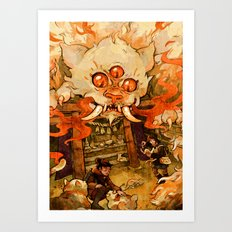 The Terror on Tashirojima Island Art Print
