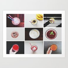Morning stories - SMOOTHIE set Art Print