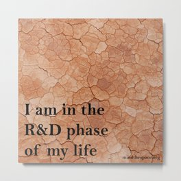 R&D phase of my life Metal Print