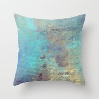 cracked Throw Pillows featuring Cracked by Jessielee