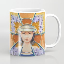 """Portrait with chromed Nón Lá"" Notebook Coffee Mug"