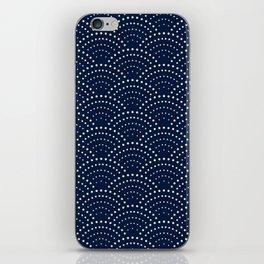 Japanese Blue Wave Seigaiha Indigo Super Moon Pattern iPhone Skin