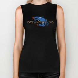 Ocean City Blue Crab Biker Tank
